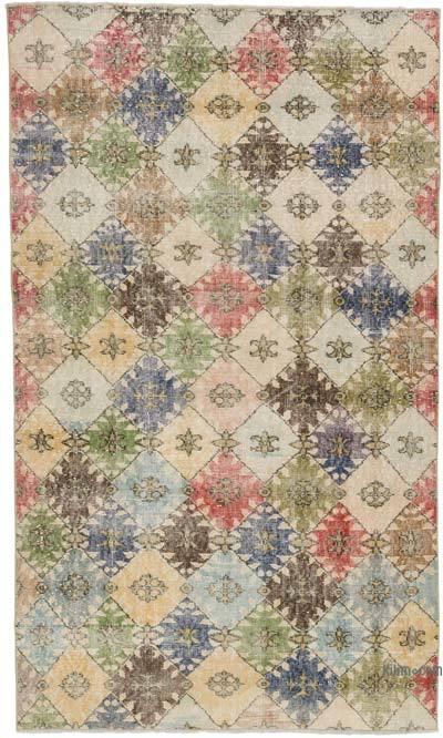 El Dokuma Vintage Halı - 129 cm x 216 cm
