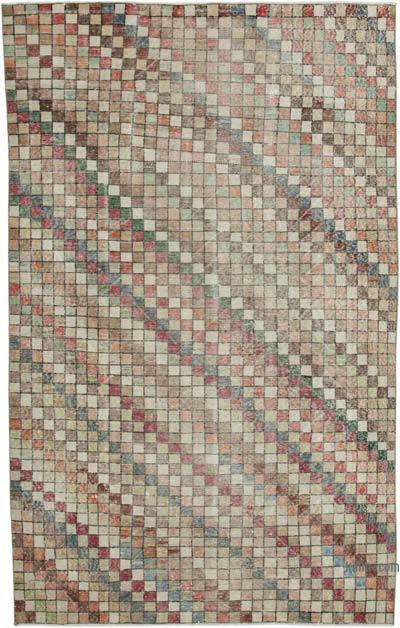 """Retro Vintage Turkish Hand-Knotted Rug - 5' 6"""" x 8' 10"""" (66 in. x 106 in.)"""