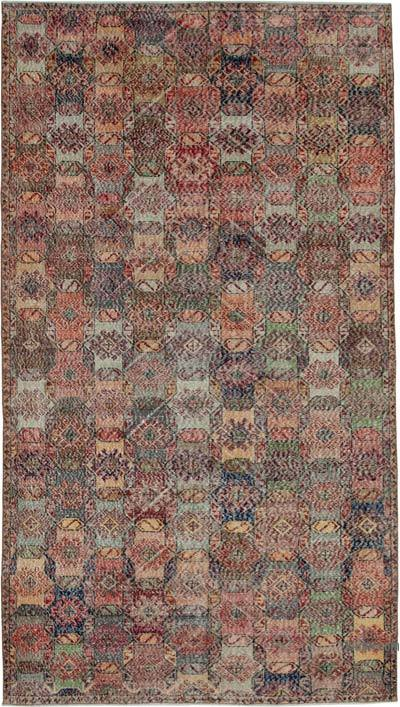 "Retro Vintage Area Rug - 5' 7"" x 10'  (67 in. x 120 in.)"