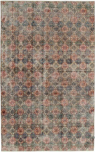 """Retro Vintage Turkish Hand-Knotted Rug - 5' 2"""" x 8' 5"""" (62 in. x 101 in.)"""