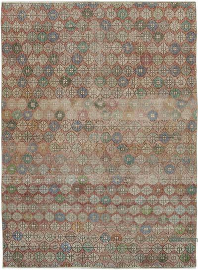 "Retro Vintage Area Rug - 6' 2"" x 8' 7"" (74 in. x 103 in.)"