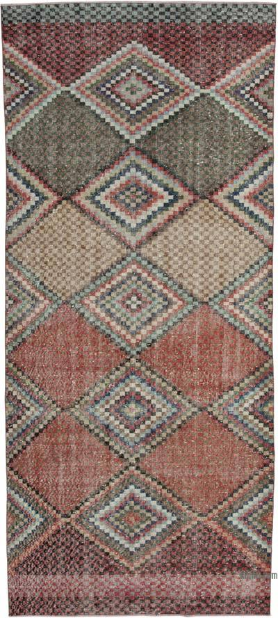 "Turkish Vintage Rug - 4' 6"" x 10' 1"" (54 in. x 121 in.)"
