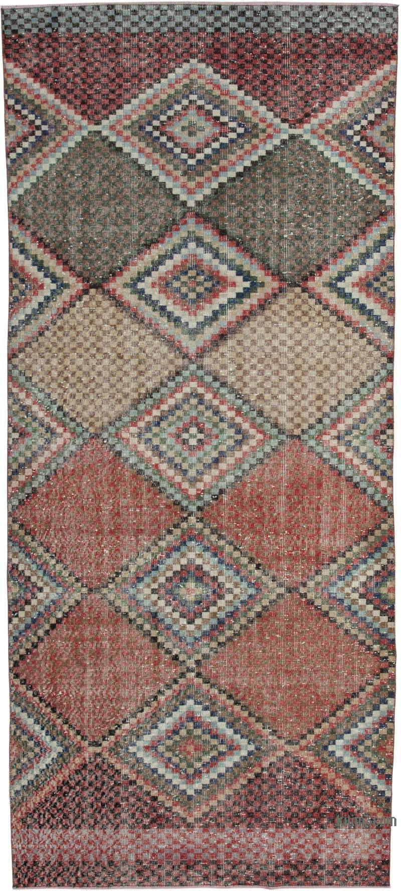 """Vintage Turkish Hand-Knotted Rug - 4' 6"""" x 10' 1"""" (54 in. x 121 in.) - K0038124"""