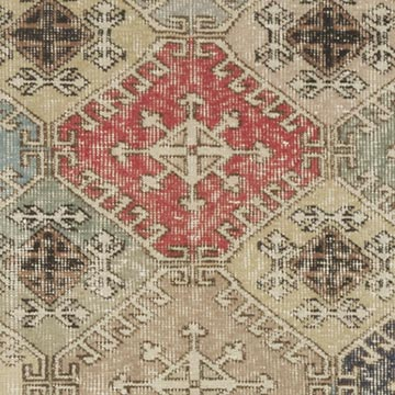 """Retro Vintage Turkish Hand-Knotted Rug - 4' 2"""" x 7' 1"""" (50 in. x 85 in.) - K0038128"""