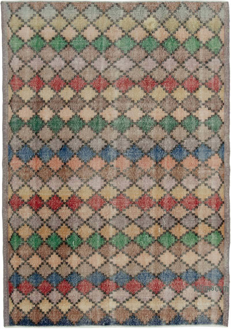 """Vintage Turkish Hand-Knotted Rug - 5' 8"""" x 8' 2"""" (68 in. x 98 in.) - K0038129"""