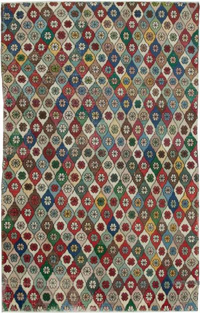 "Retro Vintage Area Rug - 6'  x 9' 7"" (72 in. x 115 in.)"