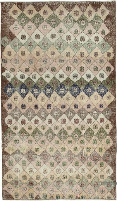 El Dokuma Vintage Halı - 151 cm x 261 cm