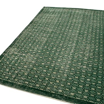 """Retro Vintage Turkish Hand-Knotted Rug - 5' 8"""" x 9' 3"""" (68 in. x 111 in.) - K0038137"""
