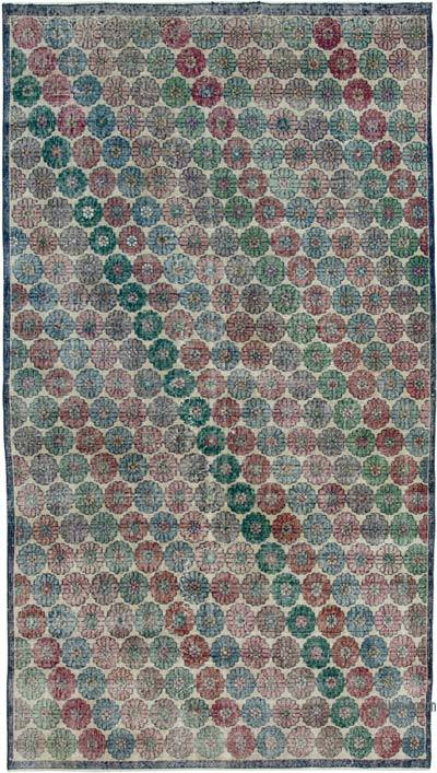 "Retro Vintage Area Rug - 4' 9"" x 8' 9"" (57 in. x 105 in.)"