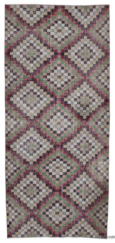 """Retro Hand-Knotted Vintage Runner - 4' 6"""" x 10'  (54 in. x 120 in.)"""