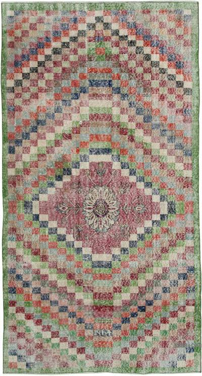 "Turkish Vintage Rug - 4' 8"" x 9' 1"" (56 in. x 109 in.)"