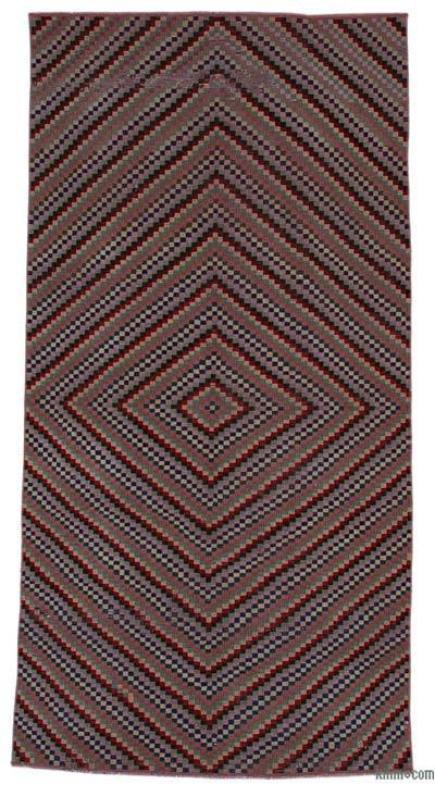 """Vintage Turkish Hand-Knotted Rug - 4' 1"""" x 8' 4"""" (49 in. x 100 in.)"""