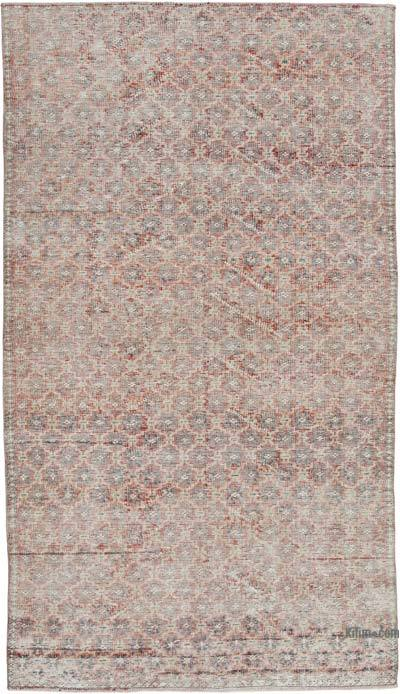 """Retro Vintage Turkish Hand-Knotted Rug - 4' 5"""" x 7' 11"""" (53 in. x 95 in.)"""