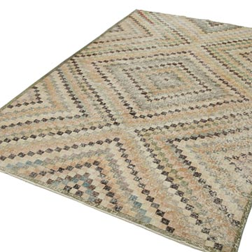 """Vintage Turkish Hand-Knotted Rug - 6'  x 8' 11"""" (72 in. x 107 in.) - K0038172"""