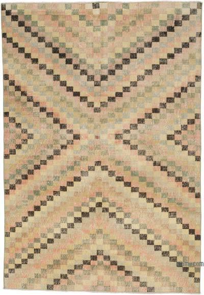 El Dokuma Vintage Halı - 138 cm x 201 cm