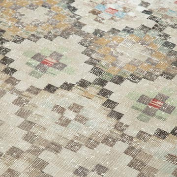 """Retro Vintage Turkish Hand-Knotted Rug - 4' 11"""" x 9' 3"""" (59 in. x 111 in.) - K0038198"""