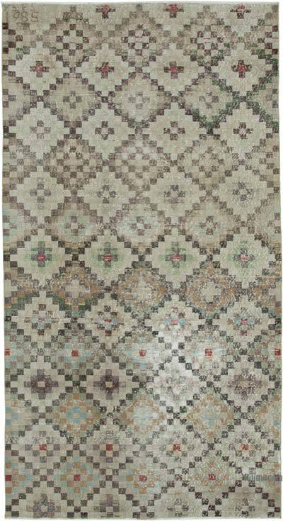 """Retro Vintage Turkish Hand-Knotted Rug - 4' 11"""" x 9' 3"""" (59 in. x 111 in.)"""