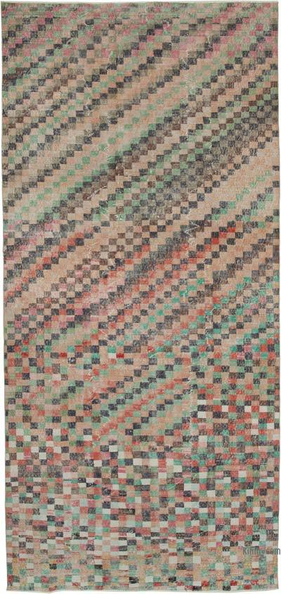 """Vintage Turkish Hand-Knotted Rug - 5' 3"""" x 11' 7"""" (63 in. x 139 in.)"""