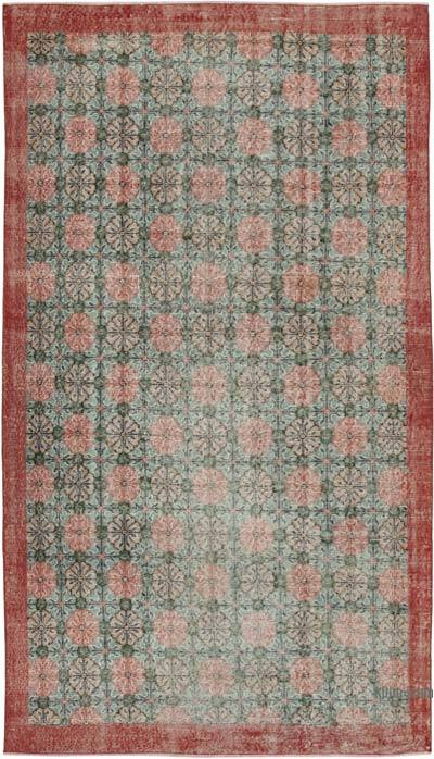 """Retro Vintage Turkish Hand-Knotted Rug - 4' 9"""" x 8' 5"""" (57 in. x 101 in.)"""