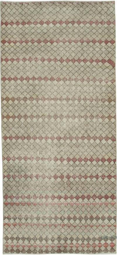 "Turkish Vintage Rug - 4' 1"" x 9' 2"" (49 in. x 110 in.)"