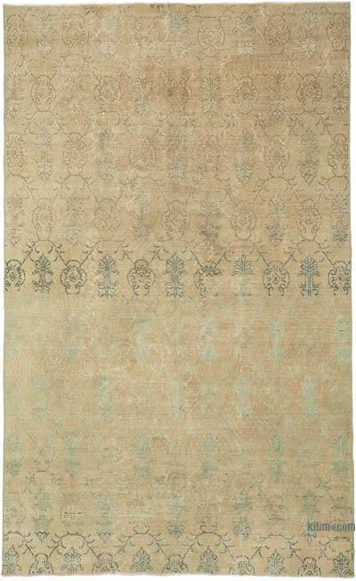 """Retro Vintage Turkish Hand-Knotted Rug - 5' 1"""" x 8' 6"""" (61 in. x 102 in.)"""