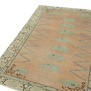 """Vintage Turkish Hand-Knotted Rug - 4' 11"""" x 7' 5"""" (59 in. x 89 in.) - K0038216"""