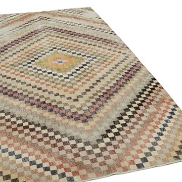 """Vintage Turkish Hand-Knotted Rug - 5' 1"""" x 9' 8"""" (61 in. x 116 in.) - K0038220"""