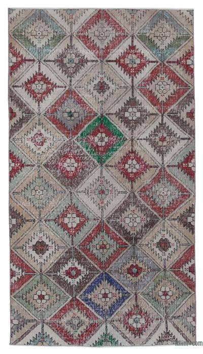 "Retro Vintage Area Rug - 3' 10"" x 7'  (46 in. x 84 in.)"