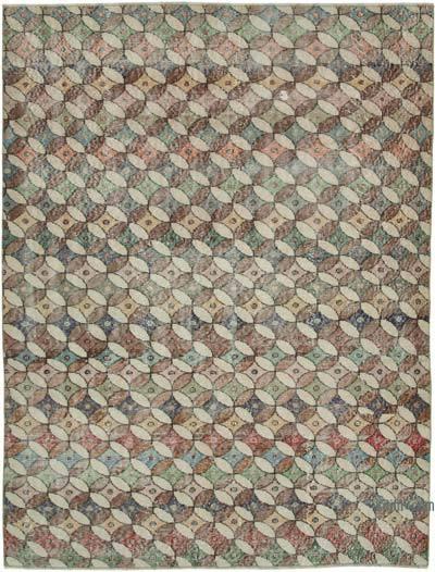 El Dokuma Vintage Halı - 161 cm x 213 cm