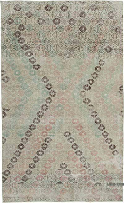 """Retro Vintage Turkish Hand-Knotted Rug - 5' 9"""" x 9' 6"""" (69 in. x 114 in.)"""