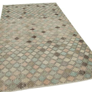 """Vintage Turkish Hand-Knotted Rug - 5' 4"""" x 9' 7"""" (64 in. x 115 in.) - K0038255"""