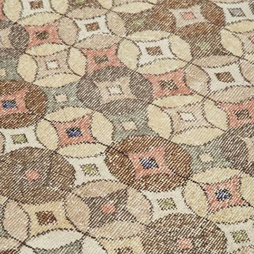 """Retro Vintage Turkish Hand-Knotted Rug - 4' 10"""" x 9' 2"""" (58 in. x 110 in.) - K0038260"""