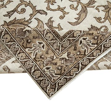 """Retro Vintage Turkish Hand-Knotted Rug - 6' 8"""" x 9' 6"""" (80 in. x 114 in.) - K0038264"""