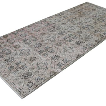 """Retro Hand-Knotted Vintage Runner - 3' 10"""" x 8' 10"""" (46 in. x 106 in.) - K0038294"""