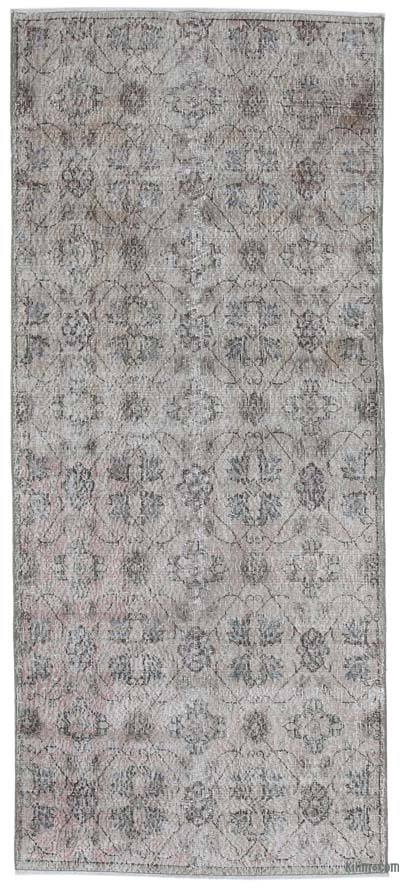 "Retro Hand-Knotted Vintage Runner - 3' 10"" x 8' 10"" (46 in. x 106 in.)"