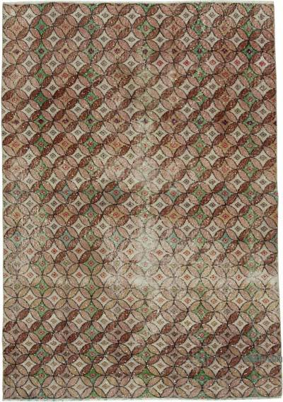 """Retro Vintage Turkish Hand-Knotted Rug - 4' 11"""" x 7' 1"""" (59 in. x 85 in.)"""