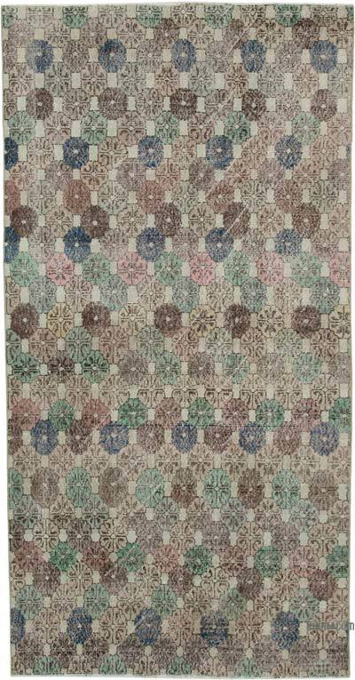 "Retro Vintage Area Rug - 4' 4"" x 8' 6"" (52 in. x 102 in.)"
