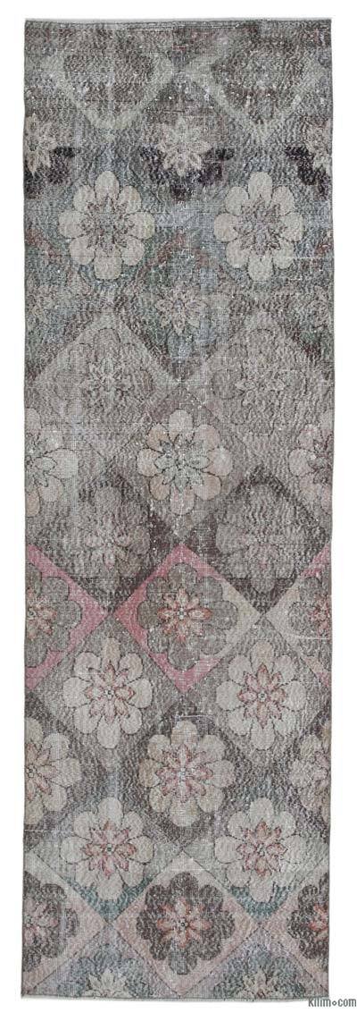 "Retro Hand-Knotted Vintage Runner - 3' 3"" x 10' 6"" (39 in. x 126 in.)"