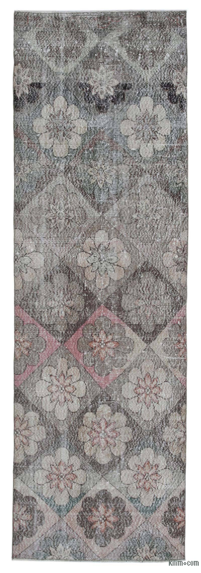 """Retro Hand-Knotted Vintage Runner - 3' 3"""" x 10' 6"""" (39 in. x 126 in.) - K0038320"""