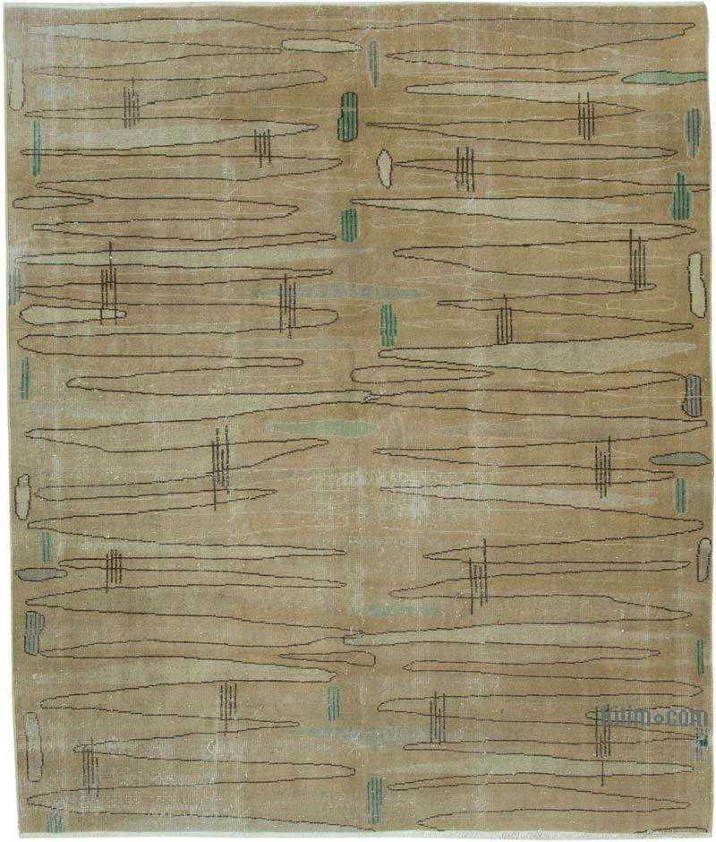 """Retro Vintage Turkish Hand-Knotted Rug - 6' 7"""" x 7' 10"""" (79 in. x 94 in.) - K0038324"""