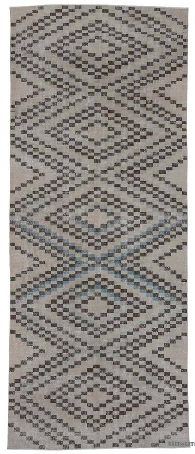 """Vintage Turkish Hand-Knotted Rug - 4' 8"""" x 11' 5"""" (56 in. x 137 in.)"""