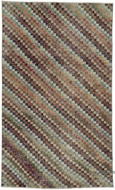 """Vintage Turkish Hand-Knotted Rug - 5' 1"""" x 8' 4"""" (61 in. x 100 in.)"""
