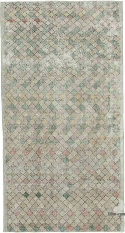 El Dokuma Vintage Halı - 150 cm x 284 cm