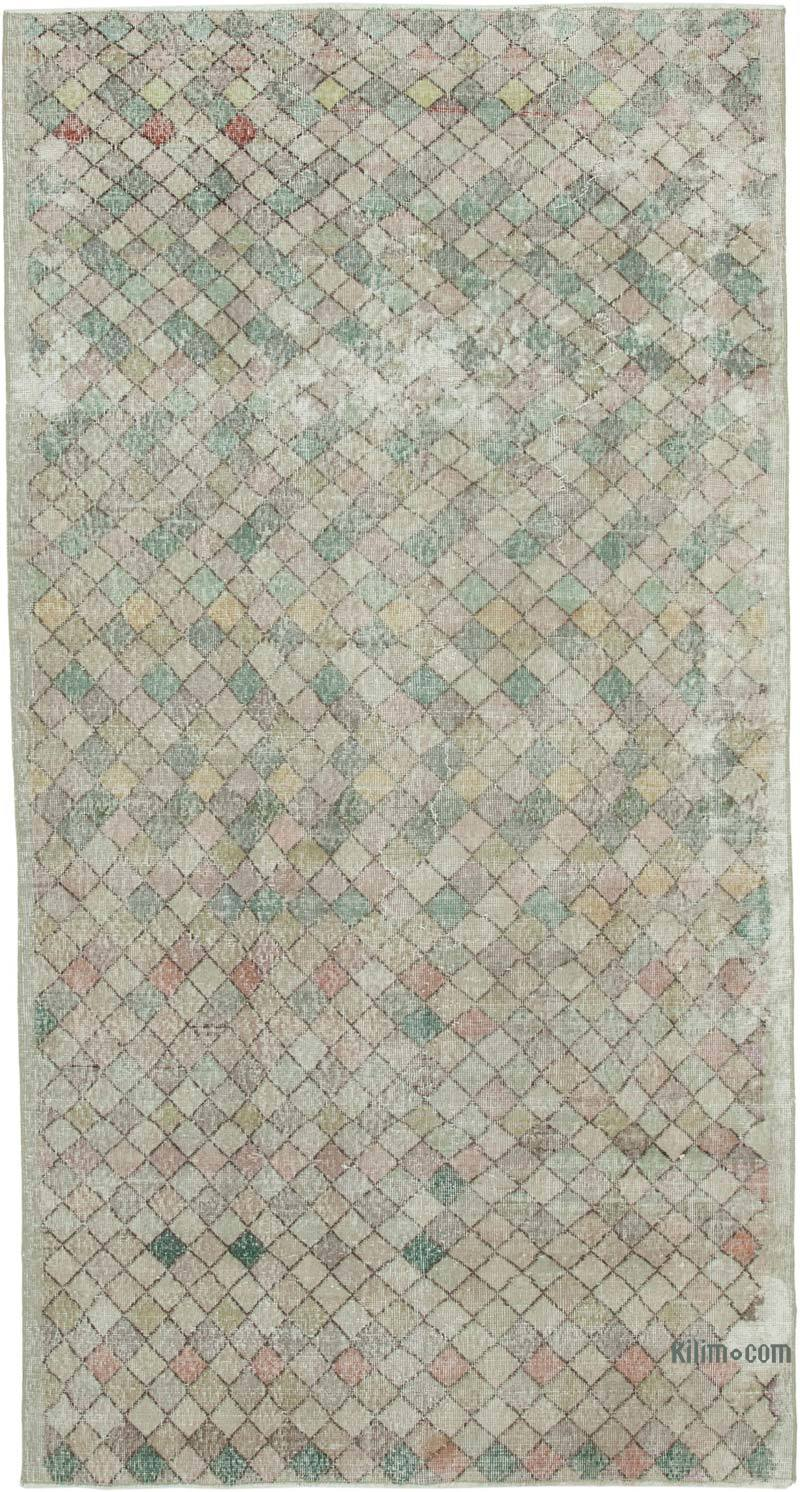 """Vintage Turkish Hand-Knotted Rug - 4' 11"""" x 9' 4"""" (59 in. x 112 in.) - K0038343"""