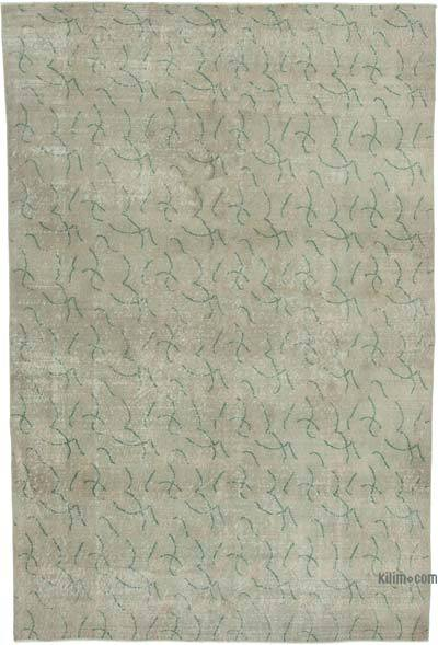 """Retro Vintage Turkish Hand-Knotted Rug - 6' 7"""" x 9' 8"""" (79 in. x 116 in.)"""