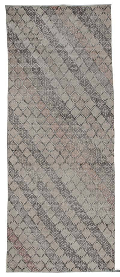 """Retro Hand-Knotted Vintage Runner - 4' 6"""" x 11' 2"""" (54 in. x 134 in.)"""