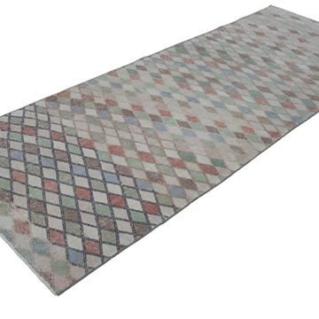 """Retro Hand-Knotted Vintage Runner - 3' 4"""" x 9' 1"""" (40 in. x 109 in.) - K0038384"""