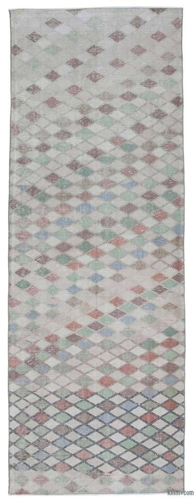 "Retro Hand-Knotted Vintage Runner - 3' 4"" x 9' 1"" (40 in. x 109 in.)"