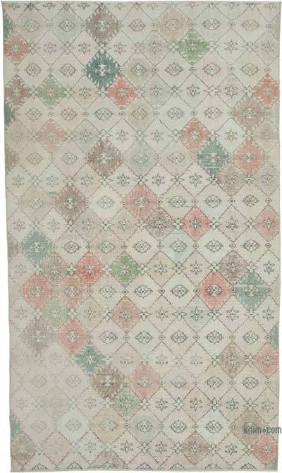Retro Vintage Area Rug - 6'  x 7'  (72 in. x 84 in.)