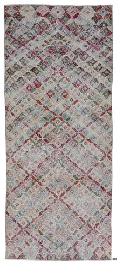 """Retro Hand-Knotted Vintage Runner - 3' 8"""" x 8' 11"""" (44 in. x 107 in.)"""